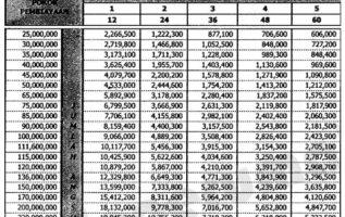Tabel Angsuran Pinjaman BRI Syariah Update