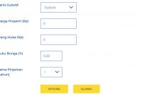 Hitungan Kalkulator KPR BTN Dengan Uang Muka