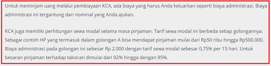Daftar Harga Gadai HP di Pusat Gadai Indonesia